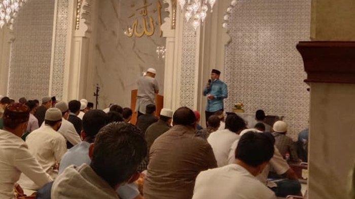 Suasana Hari Pertama Salat Tarawih Ramadan 1442 H di Masjid Kota Bogor