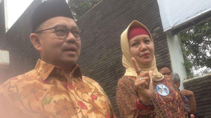 Sudirman Said Temui Emak-emak di Semarang yang Pasang Baliho Prabowo-Sandiaga Uno Depan Rumah