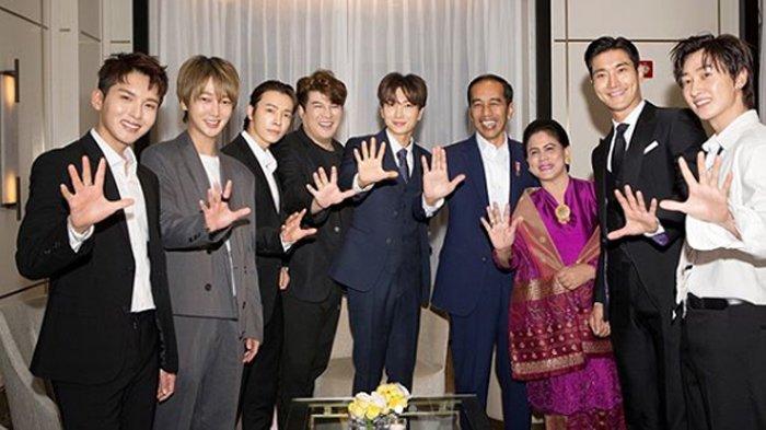 Member Super Junior Posting Foto Bareng Jokowi dan Iriana, ''Terima Kasih, Aku Cinta Kamu''