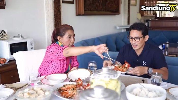 Disuguhkan Lobster, Sandiaga Uno Tertawa Dengar Sindiran Susi Pudjiastuti : Ibu Beri Masukan Kan ?