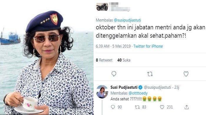 Disebut Jabatan Menterinya Akan Ditenggelamkan Bulan Oktober, Susi Pudjiastuti : Anda Sehat?