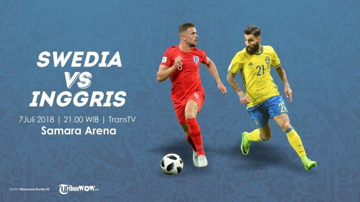 Swedia Vs Inggris, Ini Jadwal Live dan Prediksi Pertandingan Piala Dunia 2018