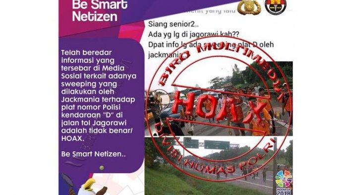 Informasi Sweeping Mobil Plat D di Tol Jagorawi Hoaks