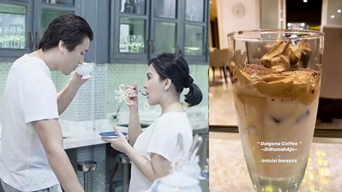 Syahrini Bikin Dalgona Coffee untuk Suami dan Mertua, Terkejut Lihat Tanggapan Reino Barack: Arigato