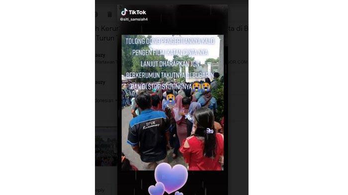 Heboh kerumunan saat Syuting Sinetron Ikatan Cinta di Bogor
