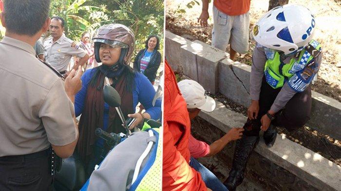 Hindari Razia, Wanita Ini Nekat Terobos Lampu Merah 2 Kali dan Tabrak Polisi Hingga Begini