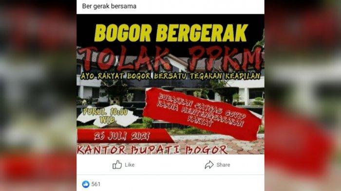 Heboh Konten Medsos Ajakan Massa di Bogor Tolak PPKM Hingga Boikot Informasi Covid-19