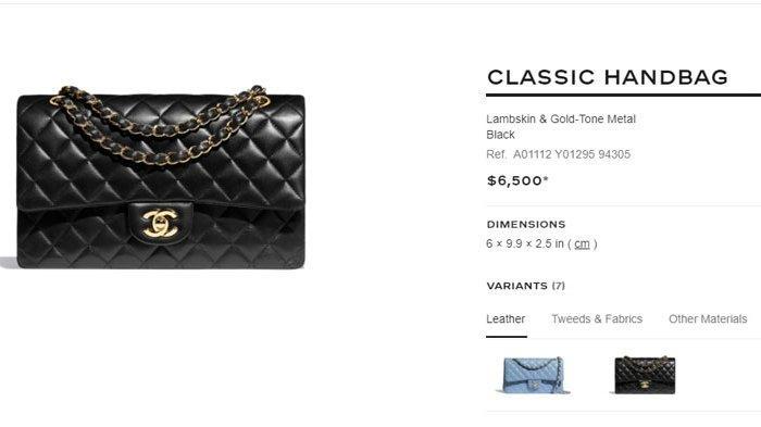 Tas merek Chanel yang mirip dengan tas sitaan KPK dari OTT Edhy Prabowo