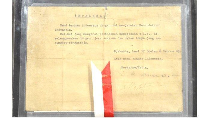Kisah di Balik Pembuatan Naskah Proklamasi Kemerdekaan Indonesia, Berikut Bacaan Teks Proklamasi