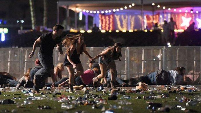 Video Detik-detik Penonton Konser Diberondong Tembakan, Wanita Menjerit Sambil Tiarap