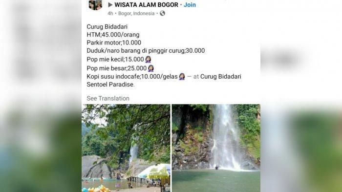Tempat wisata Curug Bidadari di wilayah Kecamatan Babakan Madang, Kabupaten Bogor heboh di media sosial (medsos).