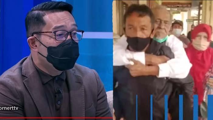 Miris Lihat Koswara Digendong Menantu di Sidang Gugatan Anak, Ridwan Kamil Geram: Rp3M Gak Sebanding