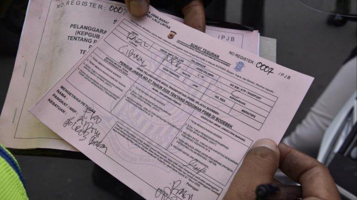 Pelanggar PSBB di Bogor yang Terjaring Razia Diberi Surat Teguran, Ini Penjelasan Polisi