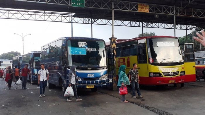 Terminal Baranangsiang Bogor Sepi Pemudik, Bus AKAP Dipenuhi Wisatawan