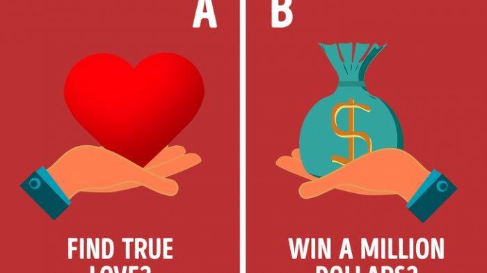Jawab 14 Pertanyaaan Tes Kepribadian: Pilih Temukan Cinta atau Dapatkan Uang? Begini Karakter Aslimu