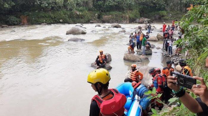 Kedalaman Sungai Cianten Cibungbulang Mencapai 6 Meter, Korban Tenggelam Belum Ditemukan