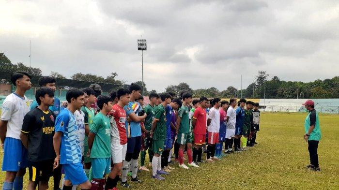 Tim Sepak Bola Kabupaten Bogor Lakukan Seleksi Pemain Jelang Babak Kualifikasi Porprov XIV Jabar