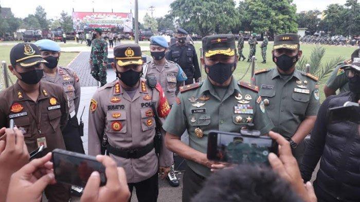 TNI-Polri dan Forkompinda Apel Gelar Pasukan Pengamanan Gereja Jelang Paskah