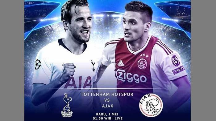Jadwal Semifinal Liga Champions: Tottenham vs Ajax Amsterdam, Dini Hari (1/5) Pukul 01.30 di RCTI