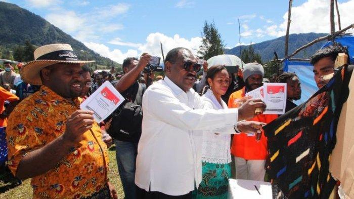 Jokowi-Ma'ruf Amin Menang di Semua TPS di Kabupaten Puncak Papua