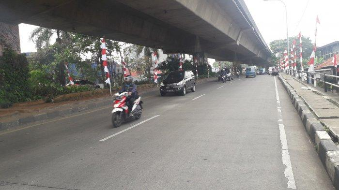 Kondisi Lalu Lintas Jalan Sholeh Iskandar Kota Bogor Kamis 13 Agustus 2020
