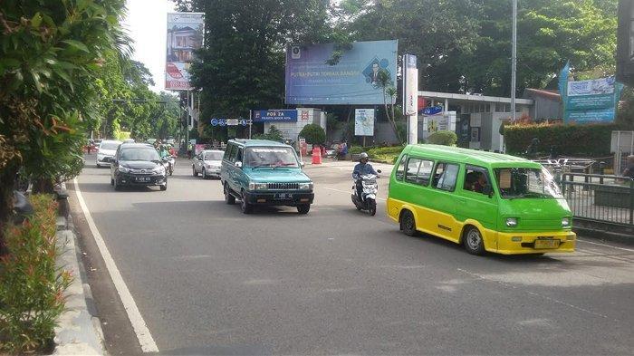 Arus Lalu Lintas Jalan Pajajaran Kota Bogor Lancar Pagi Ini
