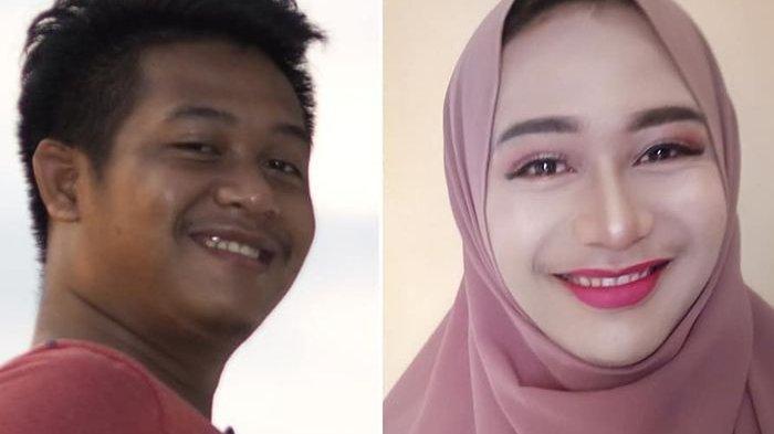 Berubah 180 Derajat, Siapa Sangka Wanita Cantik Berhijab Ini Ternyata Pria, Ini Sosok Sang Perias