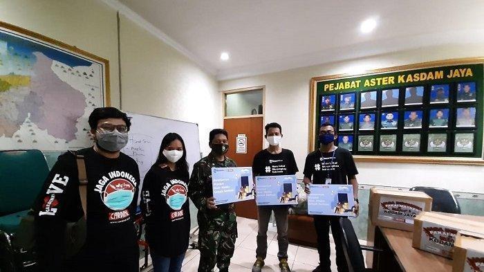 Tribunnews Bersama Cardinal Beri Bantuan 3.000 Masker Kain ke Kodam Jaya