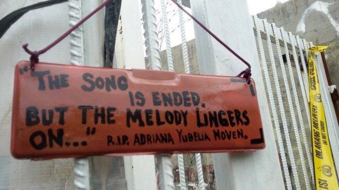 Tulisan di Lokasi Pembunuhan Siswi SMK Bogor : The Song Is Ended But The Melody Lingers On
