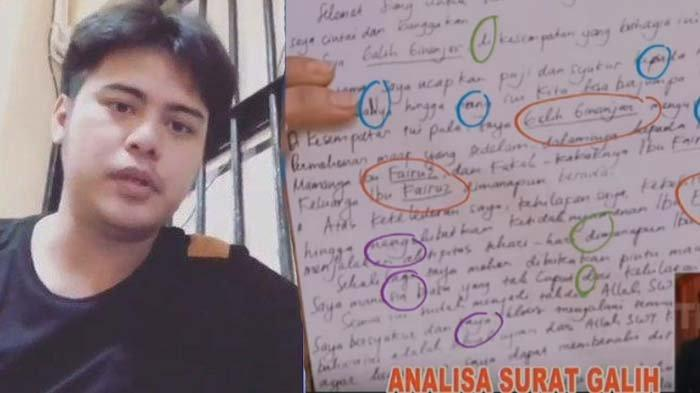 Analisis Tulisan Tangan Permintaan Maaf Galih Ginanjar, Ahli Grafologi: Cemas, Depresi dan Baper