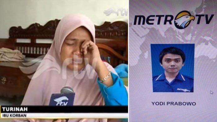 Naluri Ibu Yakin Editor Metro TV Dibunuh karena Asmara, Kriminolog Sebut Modus Bunuh Diri Yodi Berat