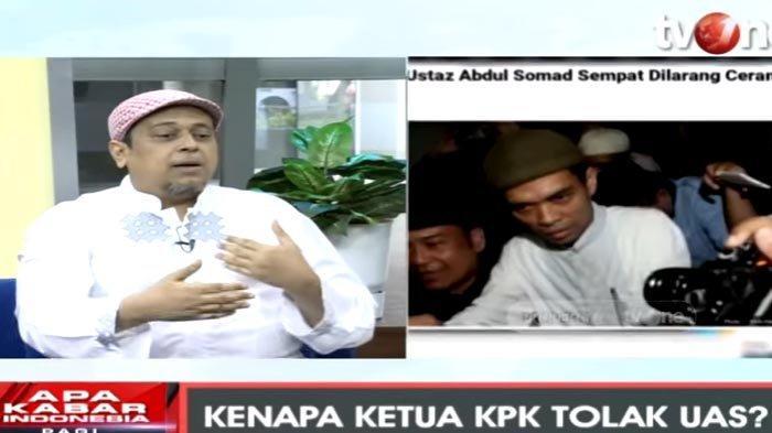 Haikal Hasan Ungkap Alasan Ustaz Abdul Somad Dicegah Ceramah di KPK : Karena Bukan Pendukung Jokowi
