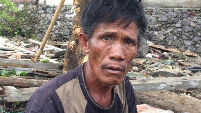 Udin Ahok Menangis Tak Bisa Selamatkan Ibu dan Anaknya Saat Tsunami, Tubuhnya Masih Tertimbun