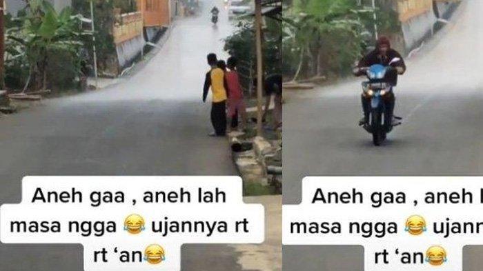 Viral Fenomena Hujan Terjadi Hanya di Satu RT Saja, Pengunggah Video Bongkar Cerita di Baliknya