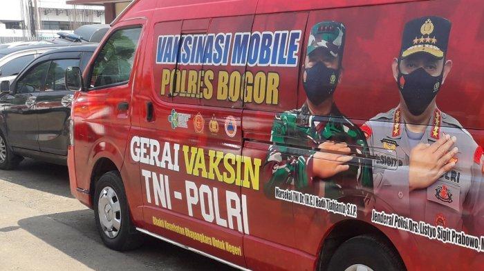 Polres Bogor Lakukan Vaksinasi Mobile, Bantu Percepatan Vaksin Target 2 Juta Dosis
