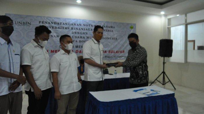 Wujudkan Kampus Merdeka dan Merdeka Belajar, UNBIN Gandeng Hipmi Kota Bogor