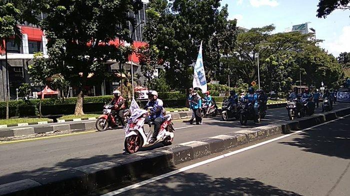 BREAKING NEWS - Serikat Pekerja Konvoi Menuju Balaikota Bogor