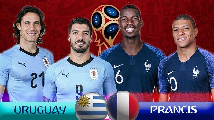 Prediski Line-up Uruguay vs Prancis di Babak Perempat Final Hingga Reuni Pemain Klub Kelas Atas