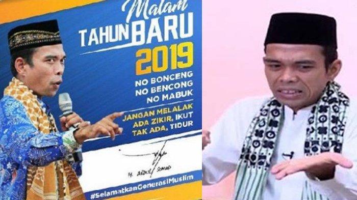 Pesan Ustaz Abdul Somad untuk Anak Muda di Malam Tahun Baru 2019 : Minum Antimo Dua Biji