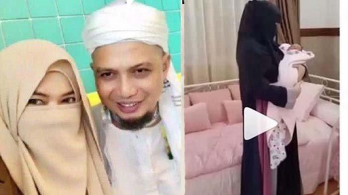 Baru 2 kali Bertemu, Anak Terlelap Diselimuti Sarung Ustaz Arifin Ilham, Istri Ketiga:Kangen Abi Nak
