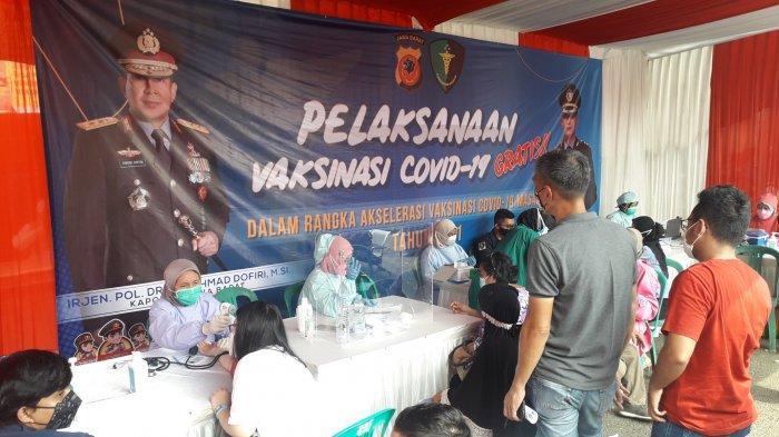 Peserta Vaksin Covid-19 Massal Gratis di Polres Bogor Capai 1.000 Orang