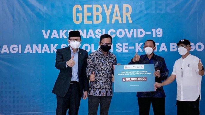 Bantuan Vaksinasi Pelajar Mengalir ke Kota Bogor, Bima Arya Optimis Oktober Vaksin Selesai