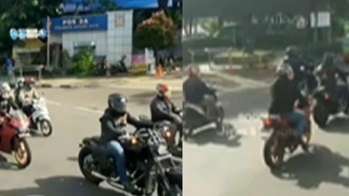 Viral video konvoi motor gede yang diduga lolos dari pemeriksaan ganjil genap di Kota Bogor,