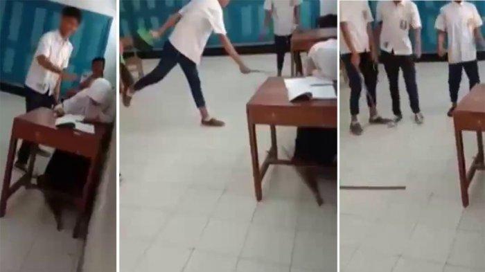 Video Viral Siswi SMP Dibully 3 Siswa di Kelas, Ganjar Pranowo Bereaksi :  Sayangi Temanmu !
