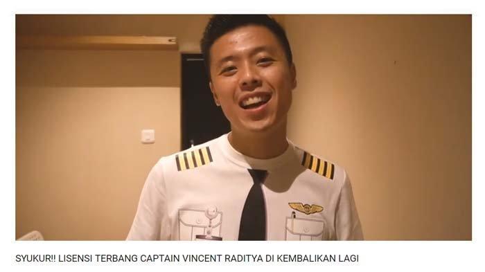 Vincent Raditya senang lisensi terbangnya dikembalikan