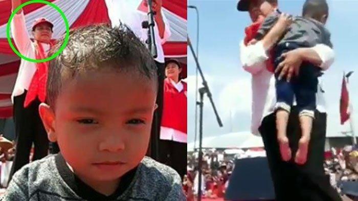 Viral Aksi Iriana Jokowi Evakuasi Anak-anak Kepanasan Saat Kampanye, Lihat Bocahnya Seusia Cucunya