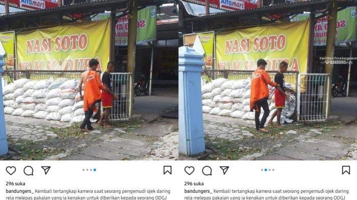 Rela Lepas Pakaian Demi ODJG, Perlakuan Driver Ojol Ini di Pinggir Jalan Banjir Pujian
