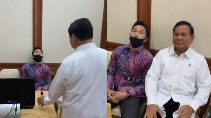 Lihat Video Menhan & Kapolda Jatim Tegur Seseorang yang Tertidur, Aksi Prabowo Buat Perekam Tertawa