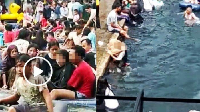 Viral Sosok Pasangan Mesum di Kolam Wisata, Ciuman & Raba Tubuh Wanita, Pengunjung Lain Tak Berkutik