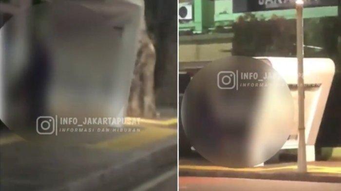 Video pria dan wanita mesum di halte busway viral